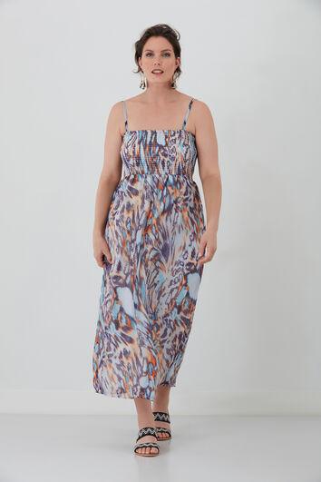 Maxi vestido con estampado
