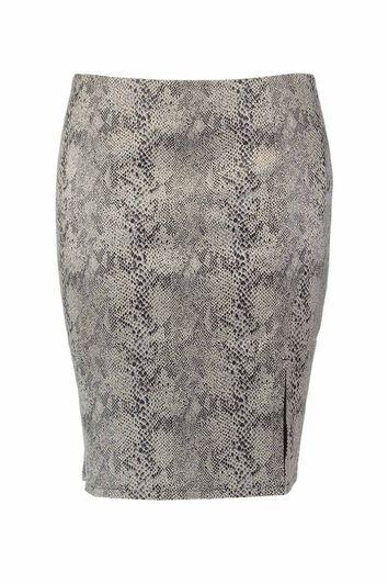 Falda en cuero sintético