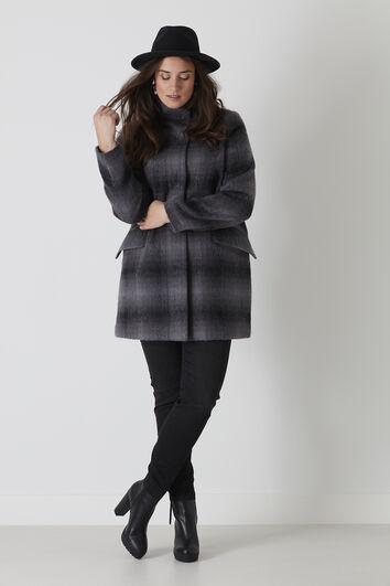 Abrigo en lana mezclada