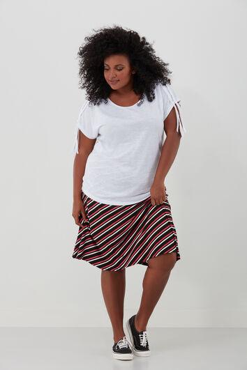 Falda con estampado integral