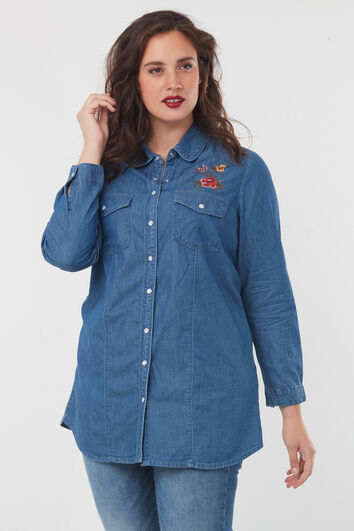 Camisa denim con bordado
