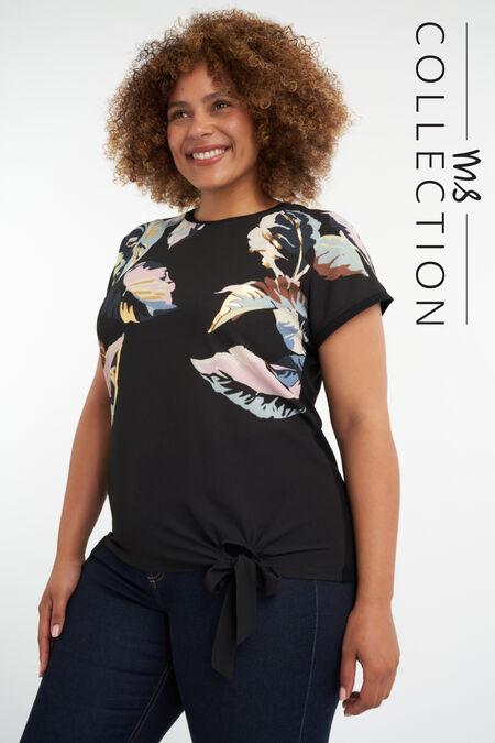 Camiseta con estampado de hojas