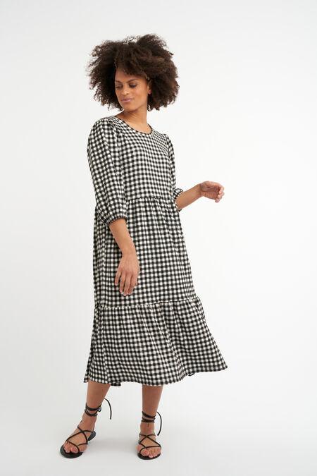 Vestido largo y ancho con estampado