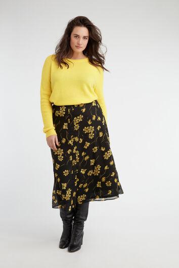 Falda de flores con botones