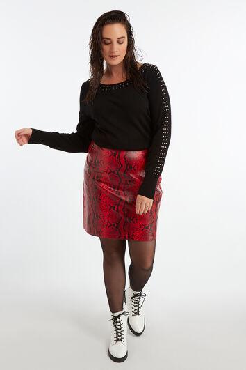 Falda con estampado de serpiente