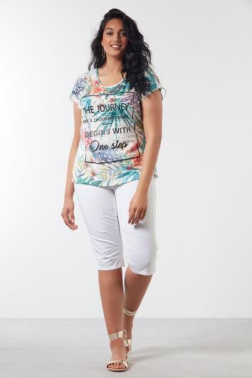Camiseta con texto y estampado