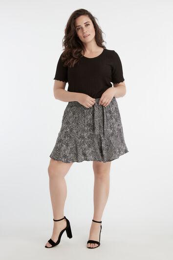 Falda pantalón con cinturón de lazo