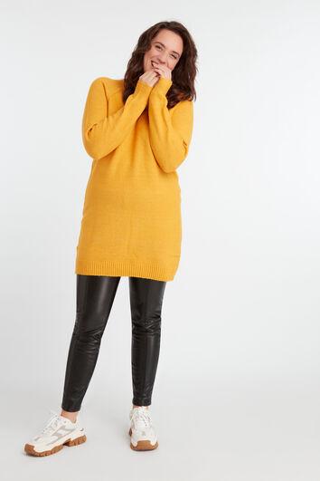 Vestido suéter con escote en V