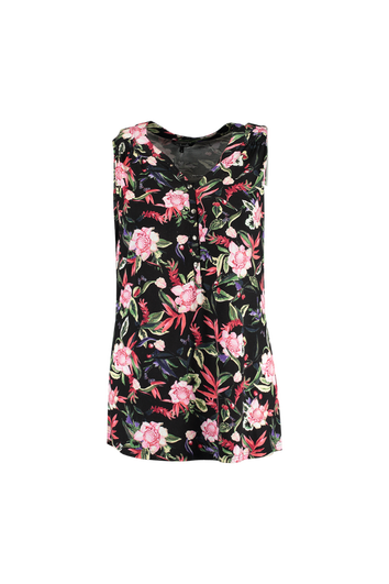 Top sin mangas con estampado floral