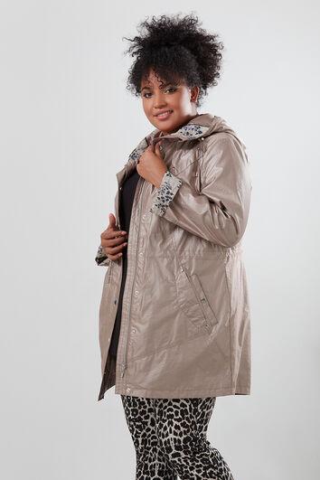 Abrigo de entretiempo con capucha