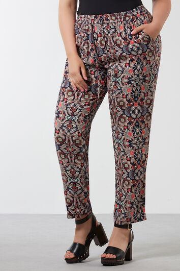 Pantalones holgados con estampado integral