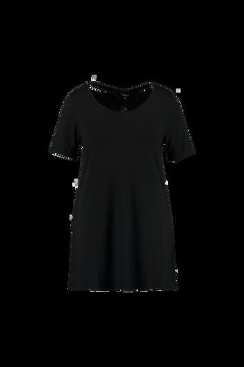 Camiseta larga lisa con detalles en la espalda