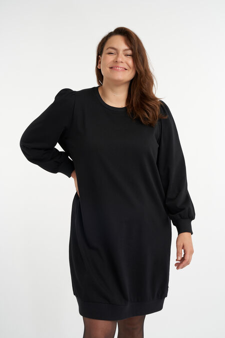 Vestido suéter con manga abullonada