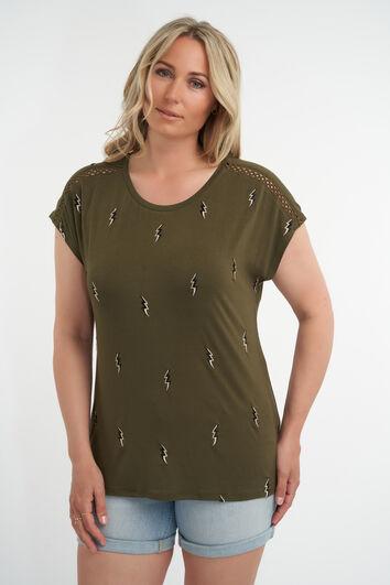 Camiseta con estampado bordado