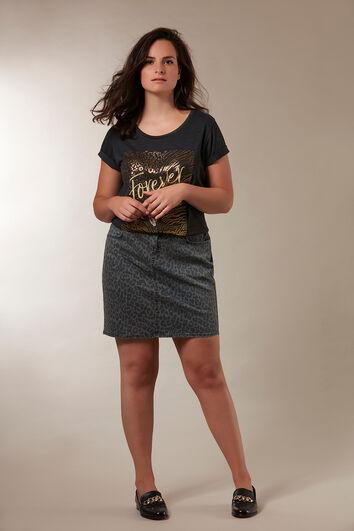 Falda con estampado de leopardo