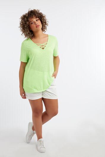 Camiseta de color neón