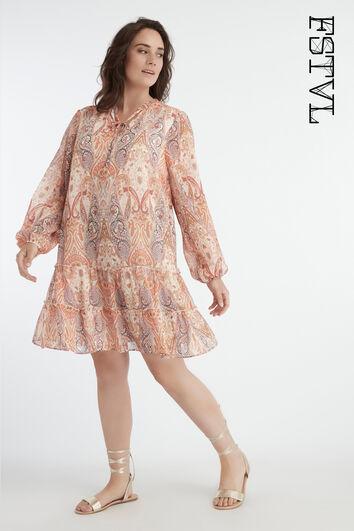 Vestido con estampado paisley