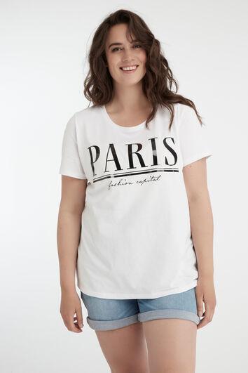 Camiseta con estampado moderno