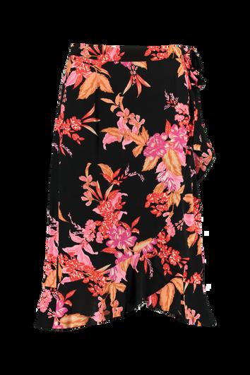 Falda cruzada con estampado floral