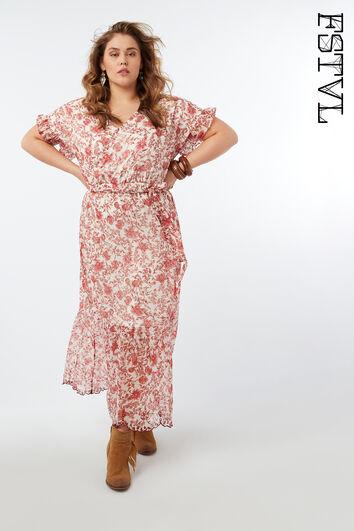 Vestido maxi de estampado floral