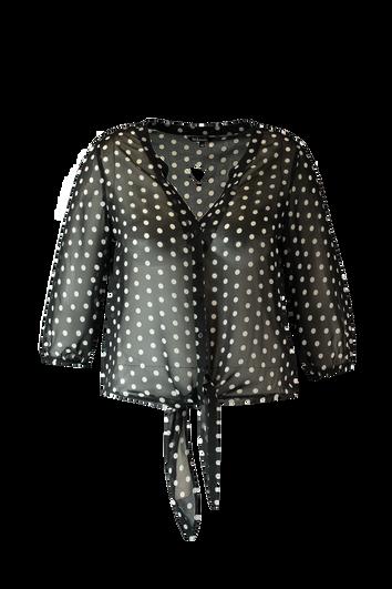 Blusa transparente de lunares