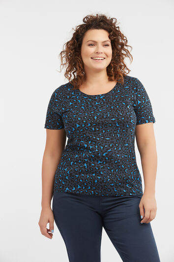 Camiseta de algodón y purpurina