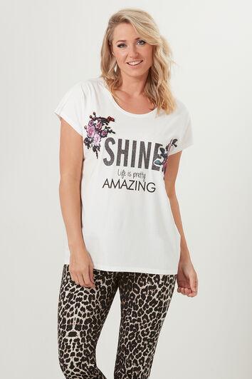 Camiseta con estampado brillante