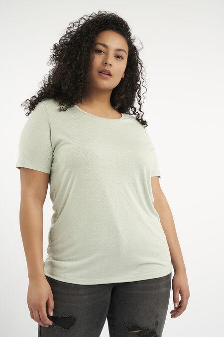 Camiseta con tachuelas pequeñas