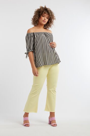 Pantalones tobilleros de sarga