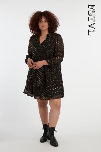 Vestido corto con un tejido transparente