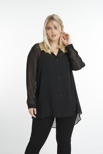 Blusa transparente