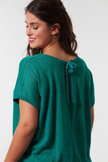 Jersey de lúrex con detalle en la espalda