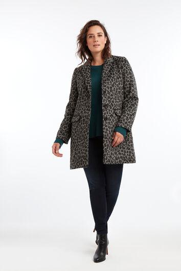 Chaqueta urbana de mezcla de lana
