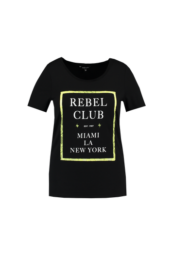 Camiseta con texto y encaje