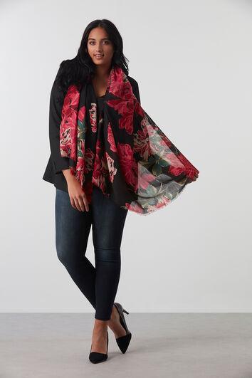 Bufanda con estampado floral