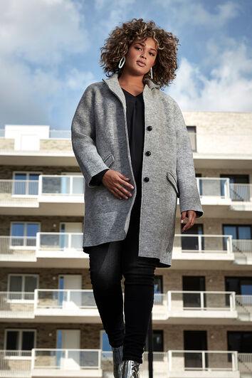 Abrigo de lana con botones