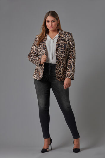 Blazer con estampado de leopardo