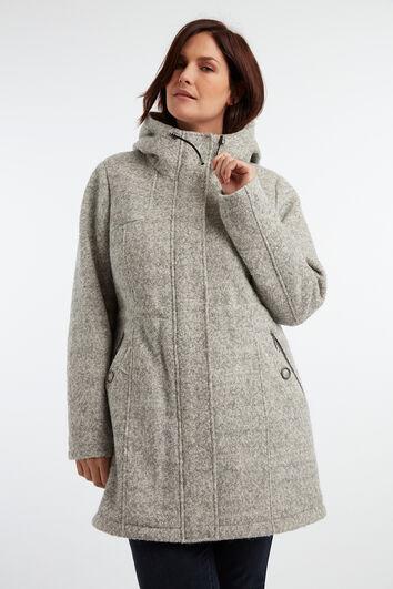 Abrigo de mezcla de lana
