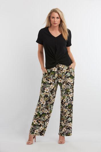 Pantalones de pernera ancha con estampado