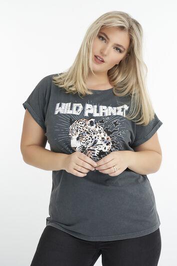 Camiseta con dibujo impreso de tendencia