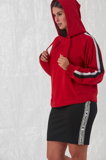 Falda de punto roma con raya deportiva
