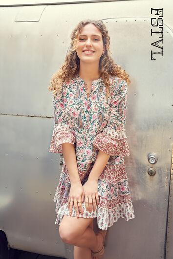 Vestido con patchwork