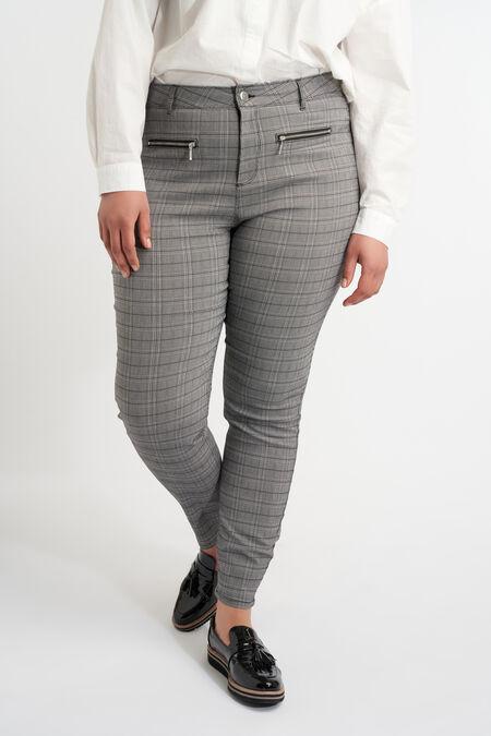 Pantalones con cremalleras decorativas
