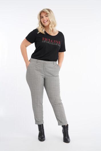 Pantalones tobillero de cuadros