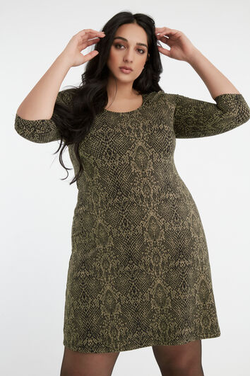 Vestido túnica con estampado
