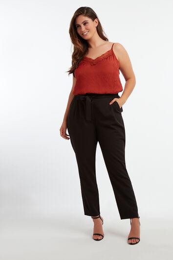 Pantalones con cintura paperbag