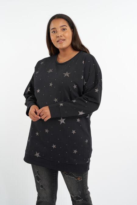 Suéter con estampado de estrellas
