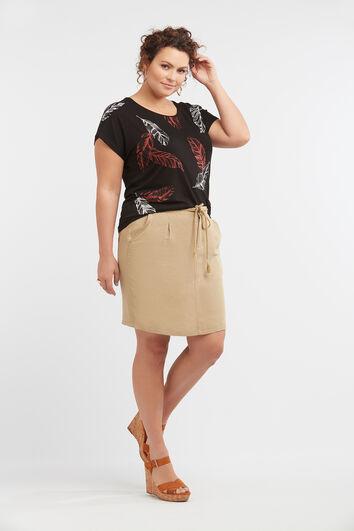Falda de mezcla de lino