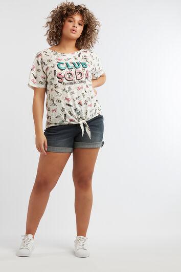 Camiseta con estampado de dibujos animados