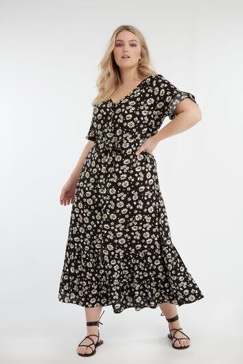 Vestido maxi de flores